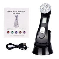 5 in 1 LED Photon Light Therapy and Ultrasonic Vibration Device for Anti Aging, Face Tightening, and general Skin Care