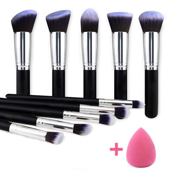 Professional Make Up Brush Set -10pcs + Beauty Egg