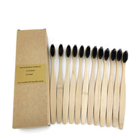 Dark Black Color Eco Friendly Bamboo Toothbrush