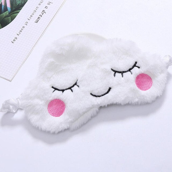 Cute Plush Sleep Eye Mask White Cloud