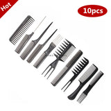 Professional Hair Brush Combs 10pcs