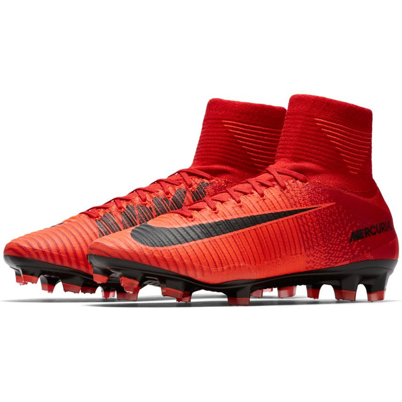 Jr Mercurial Superfly V DF FG (University Red Pack)