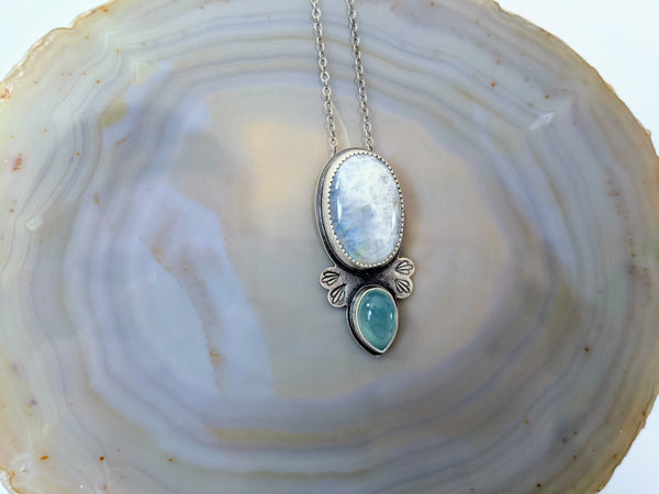 Dripping Moonstone Necklace