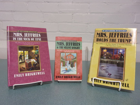 3 Mrs Jeffries Mysteries by Emily Brightwell (2 Hardcovers & 1 Mass Market Paperback)