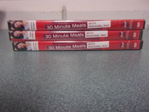 30 Minute Meals with Rachael Ray: Perfect Burgers, One Pot Miracles, Fasta Pasta 2 (shrink wrapped 3-disc group DVD)