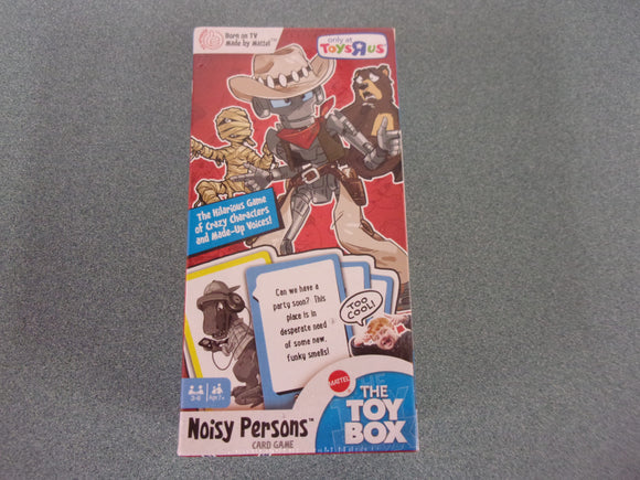 Mattel The Toy Box Noisy Persons Card Game NEW