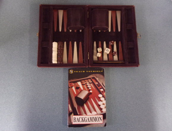 Teach Yourself Backgammon Book (Paperback) With A Small Backgammon Set