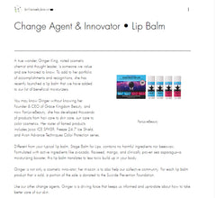 Brilliance by Brown - Change Agent & Innovator - Lip Balm FanLoveBeauty