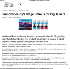 FanLoveBeauty Featured in Global Cosmetic's Industry Magazine