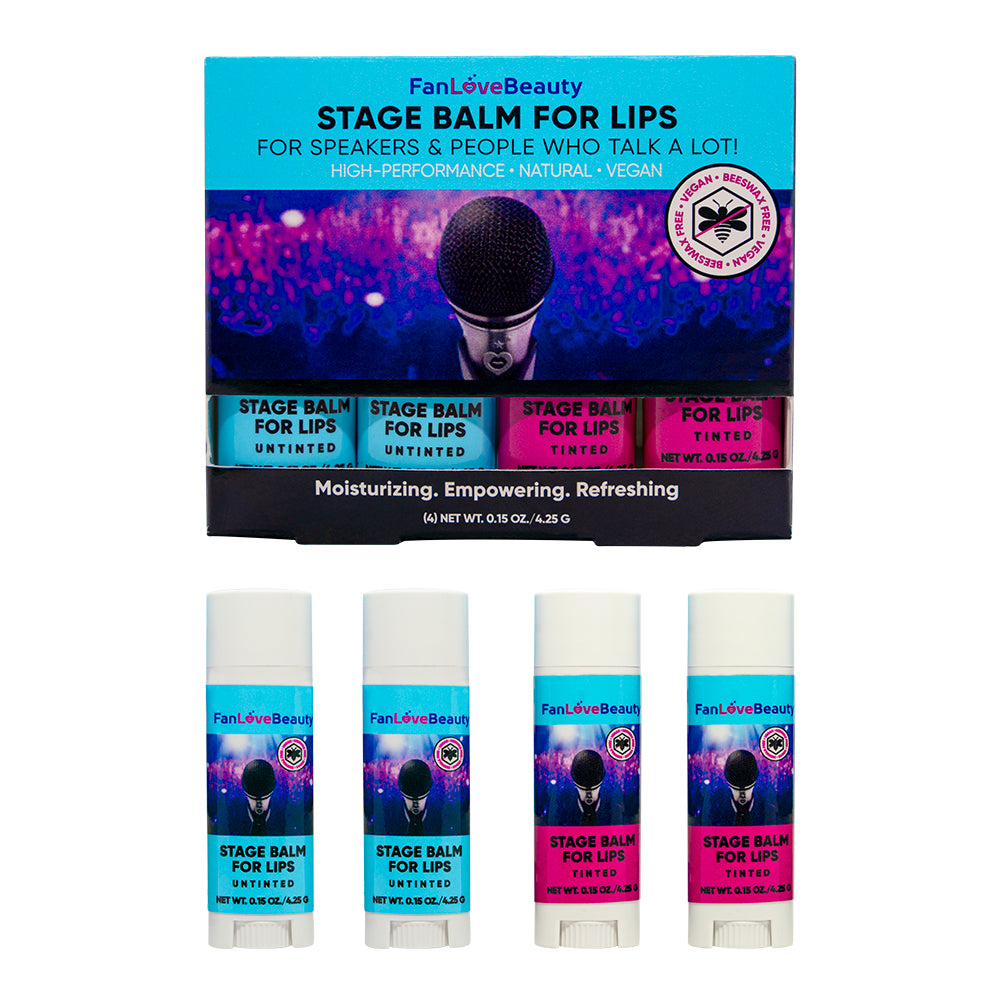 4 Pack Inclusive Stage Balm for Lips - FanLoveBeauty Empowers Confidence Through Beauty