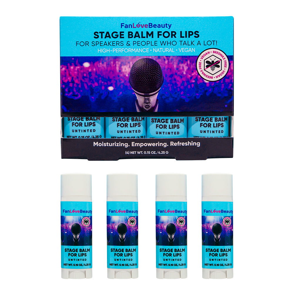 4 Pack Untinted Stage Balm for Lips - FanLoveBeauty Empowers Confidence Through Beauty