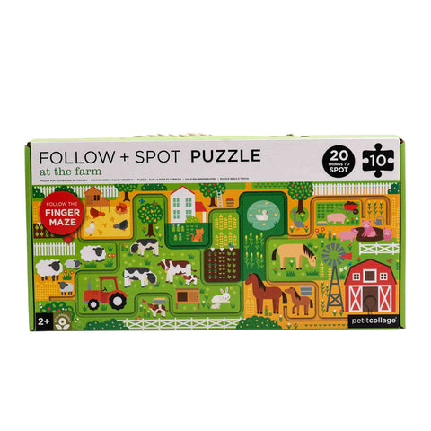 farm finger maze and puzzle