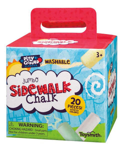 20 assorted color washable sidewalk chalk