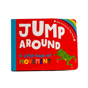 easy turning jump around board book