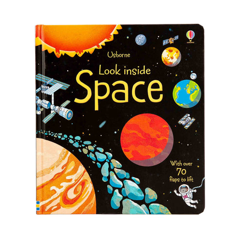 lift the flap look inside space book