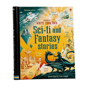 science fiction and fantasy story story book.