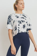 Load image into Gallery viewer, Tie-Dye Athleisure T-Shirt Crop Top