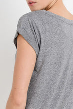 Load image into Gallery viewer, 'The Essential Tee' Round Neck Cap Sleeve T-Shirt - Heather Grey