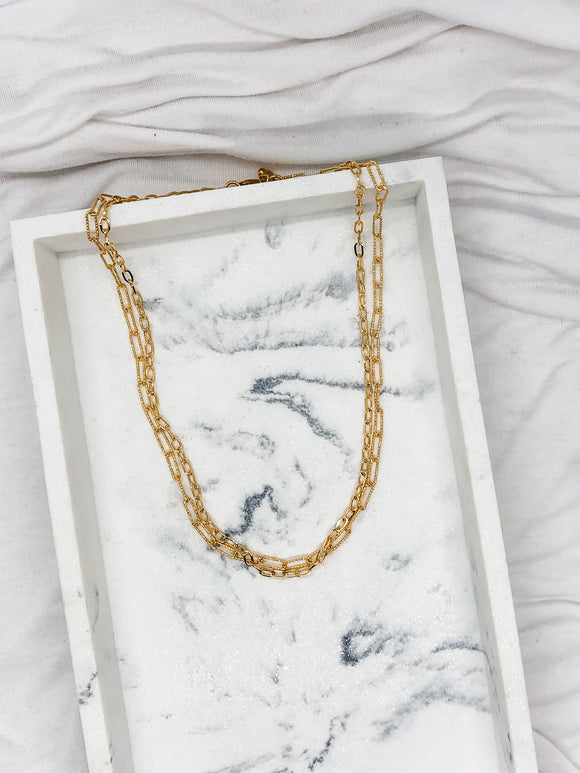 Double Layer Mixed Chain Necklace