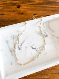 Pearl Link Chain Necklace