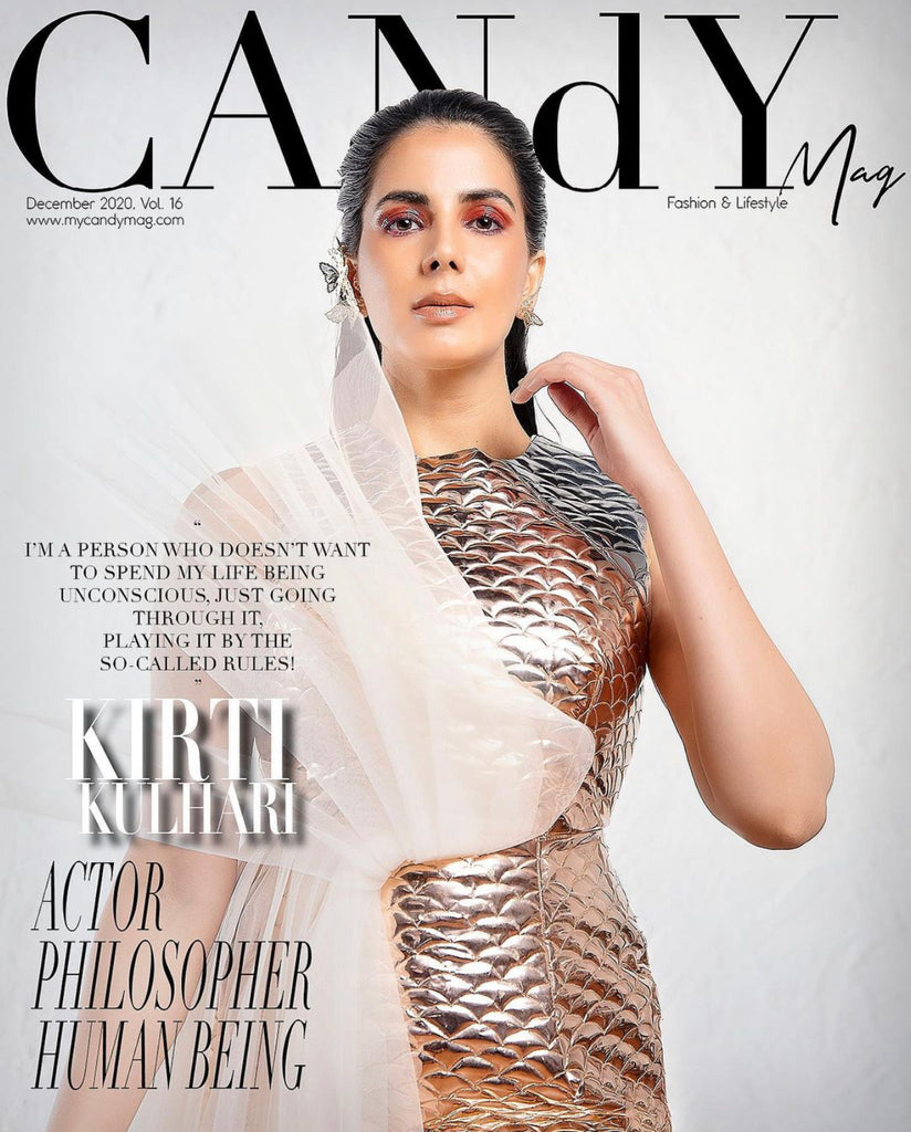 CANDY Mag Features SOSHAI on Kriti Kulhari for COVER STORY
