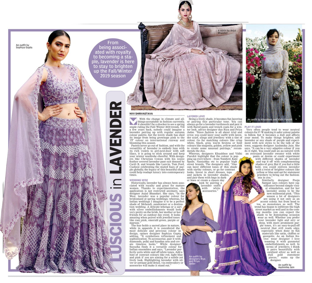 Luscious in Lavender in Deccan Chronicle