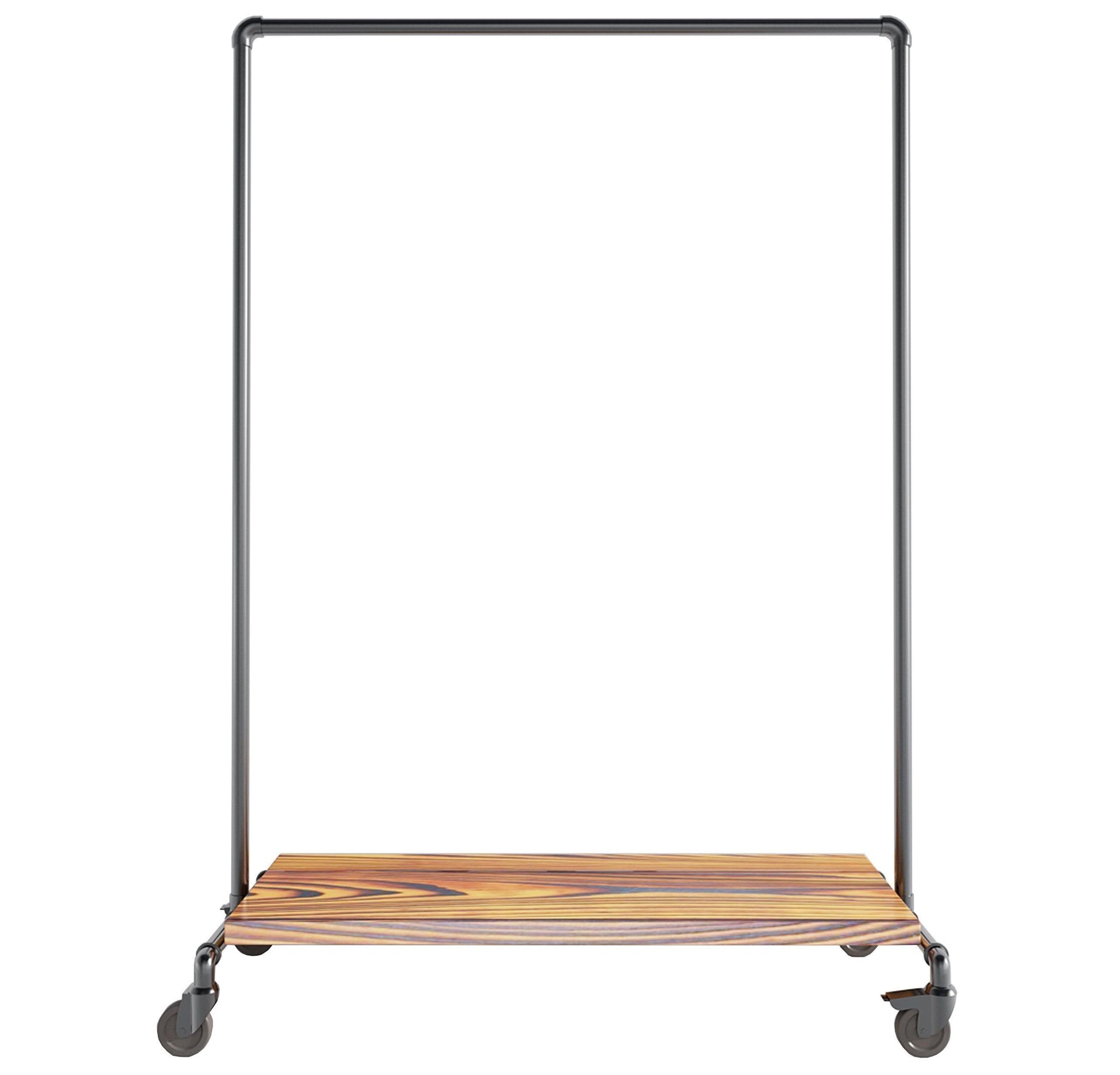 Ziito Clothes Rail A2 / 100 cm / Med Hjul Wood Low Shelf Tøjstativ