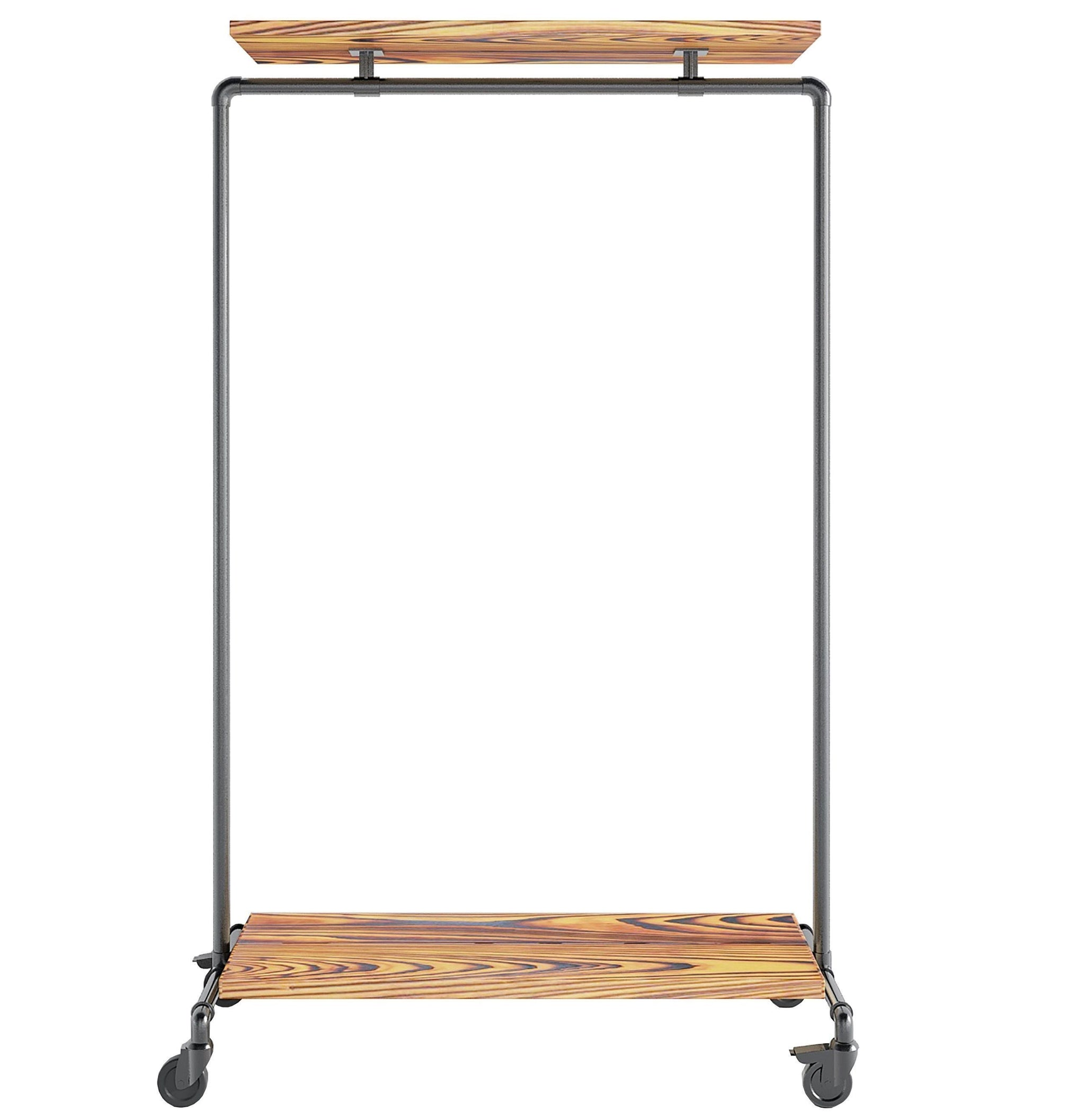 Ziito Clothes Rail A2 / 100 cm / Med Wood Double Shelf Tøjstativ
