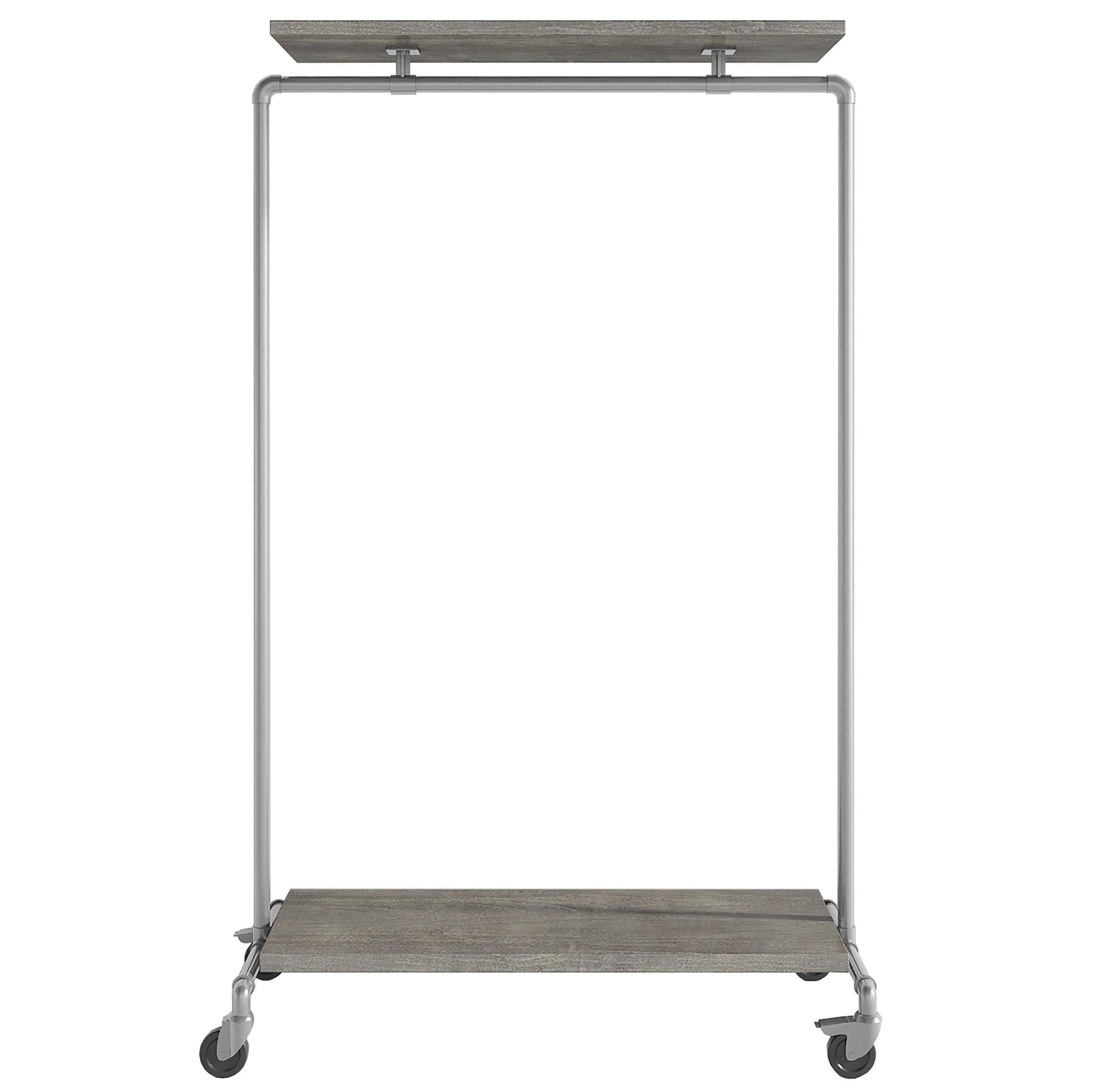 Ziito Clothes Rail B1 / 100 cm / Med Wood Double Shelf Tøjstativ