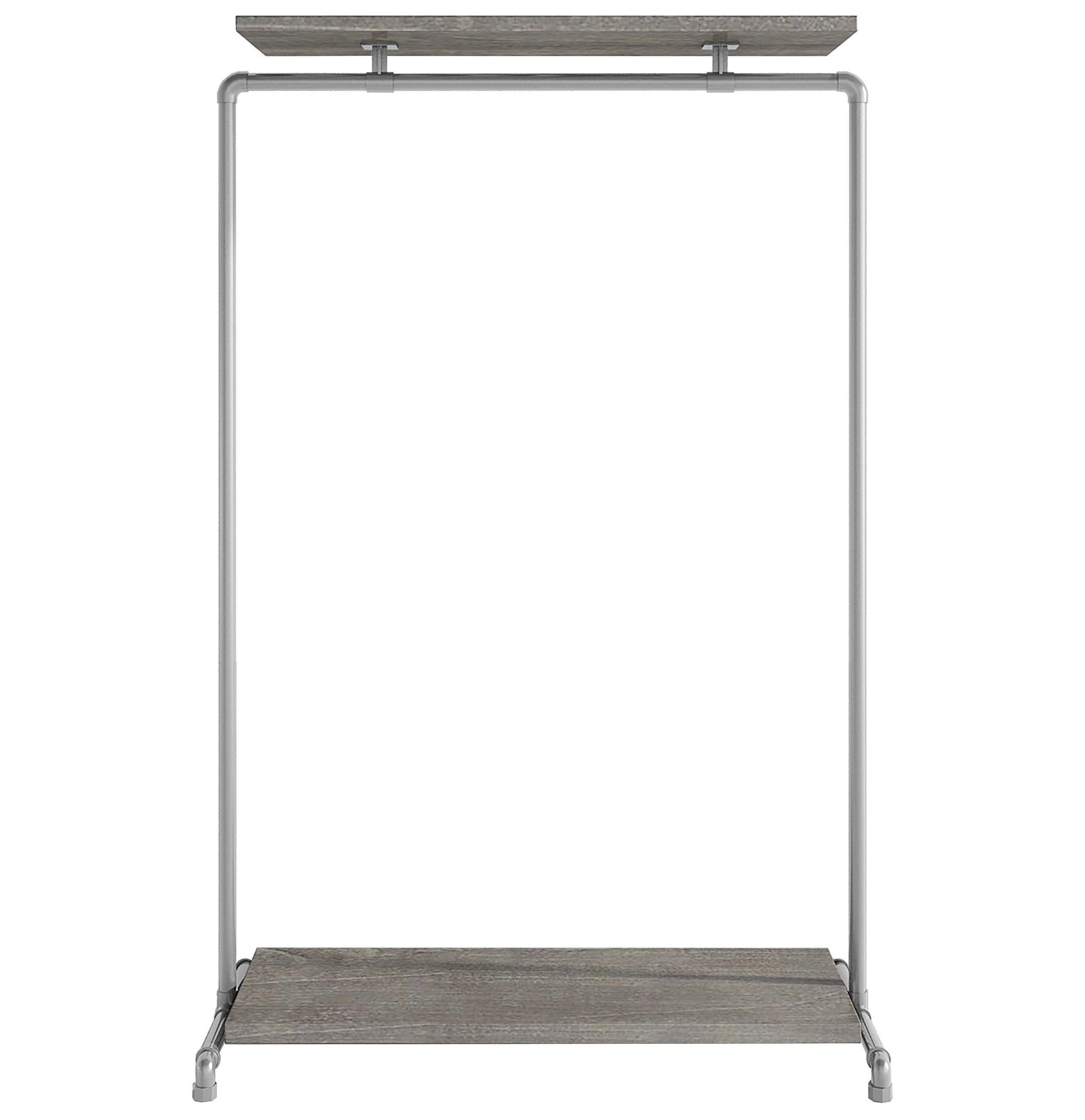 Ziito Clothes Rail B1 / 100 cm / Uden Wood Double Shelf Tøjstativ