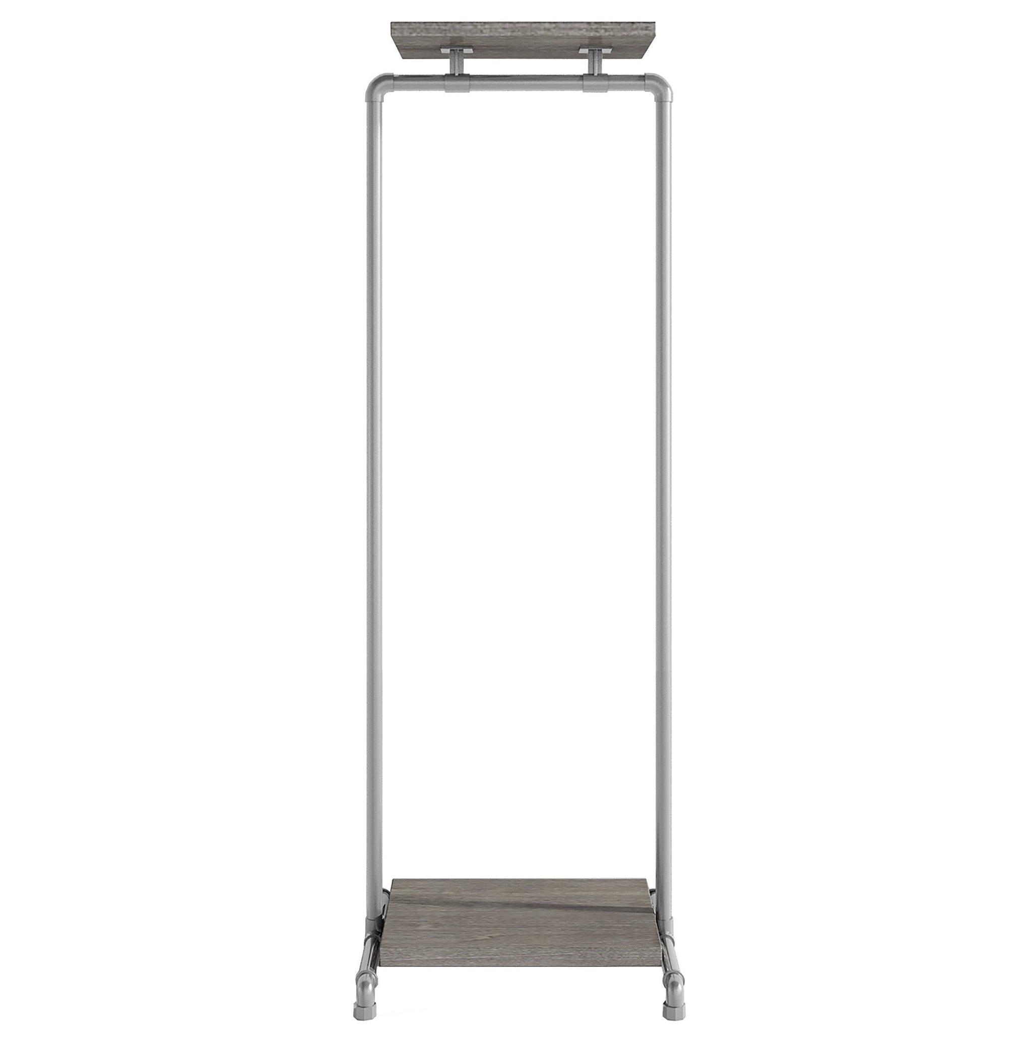 Ziito Clothes Rail B1 / 50 cm / Uden Wood Double Shelf Tøjstativ