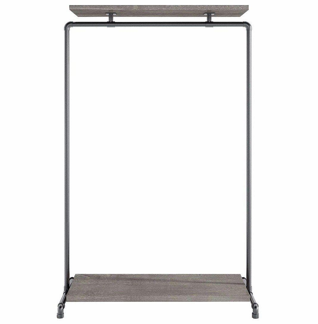 Ziito Clothes Rail B2 / 100 cm / Uden Wood Double Shelf Tøjstativ