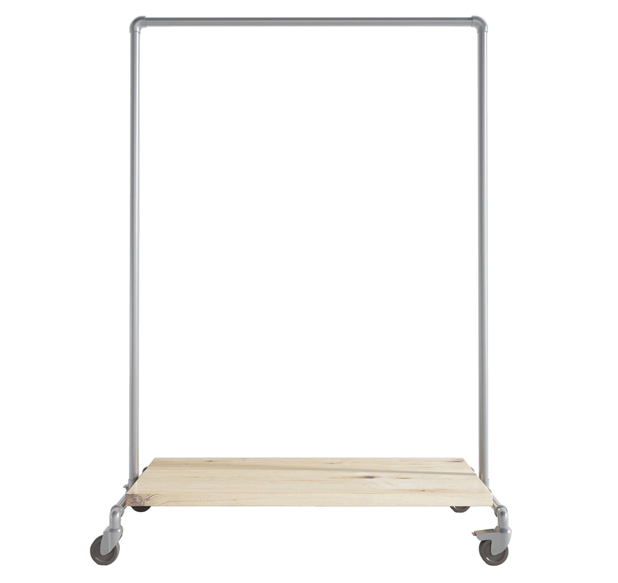 Ziito Clothes Rail C1 / 100 cm / Med Hjul Wood Low Shelf Tøjstativ