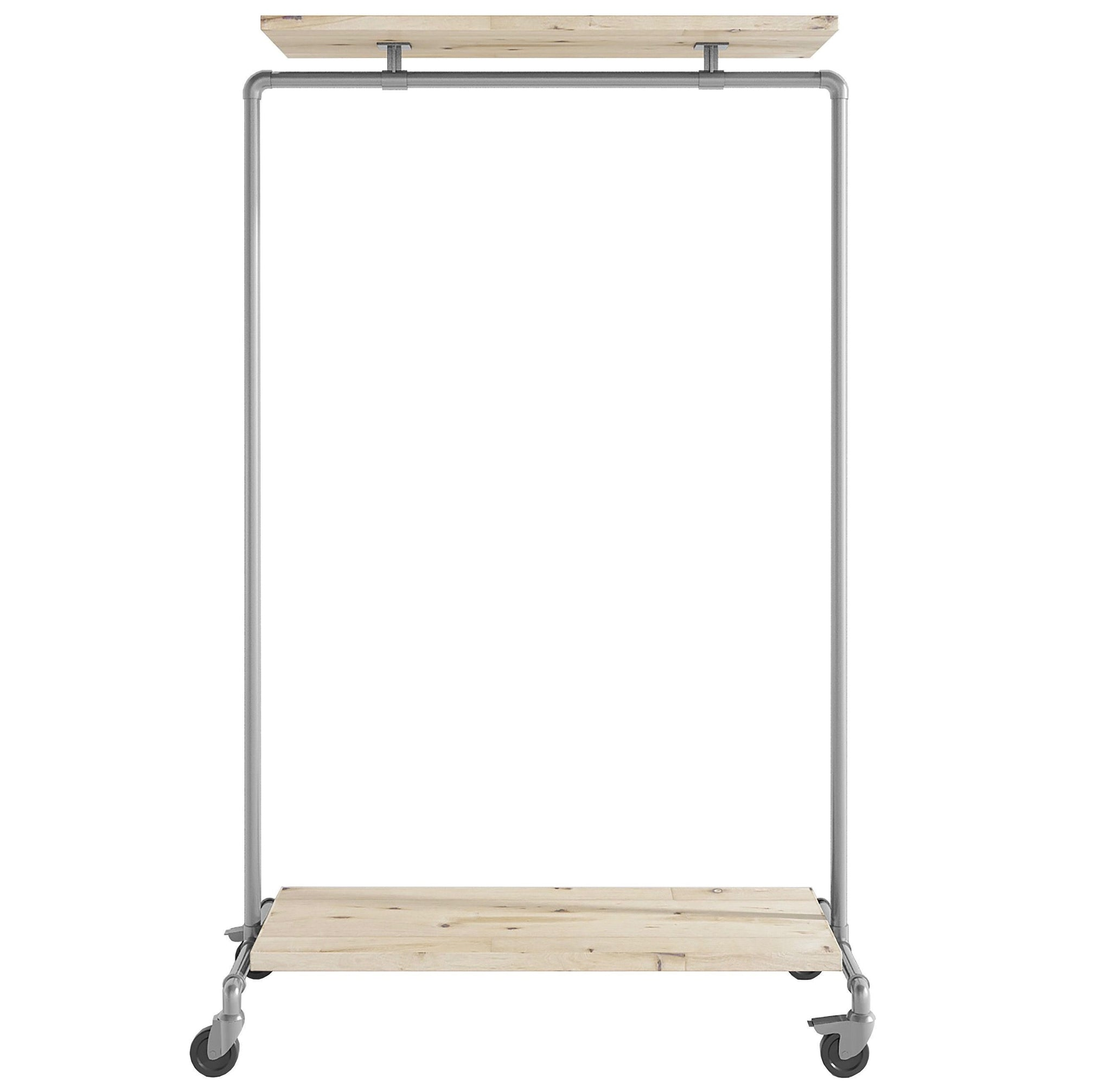 Ziito Clothes Rail C1 / 100 cm / Med Wood Double Shelf Tøjstativ