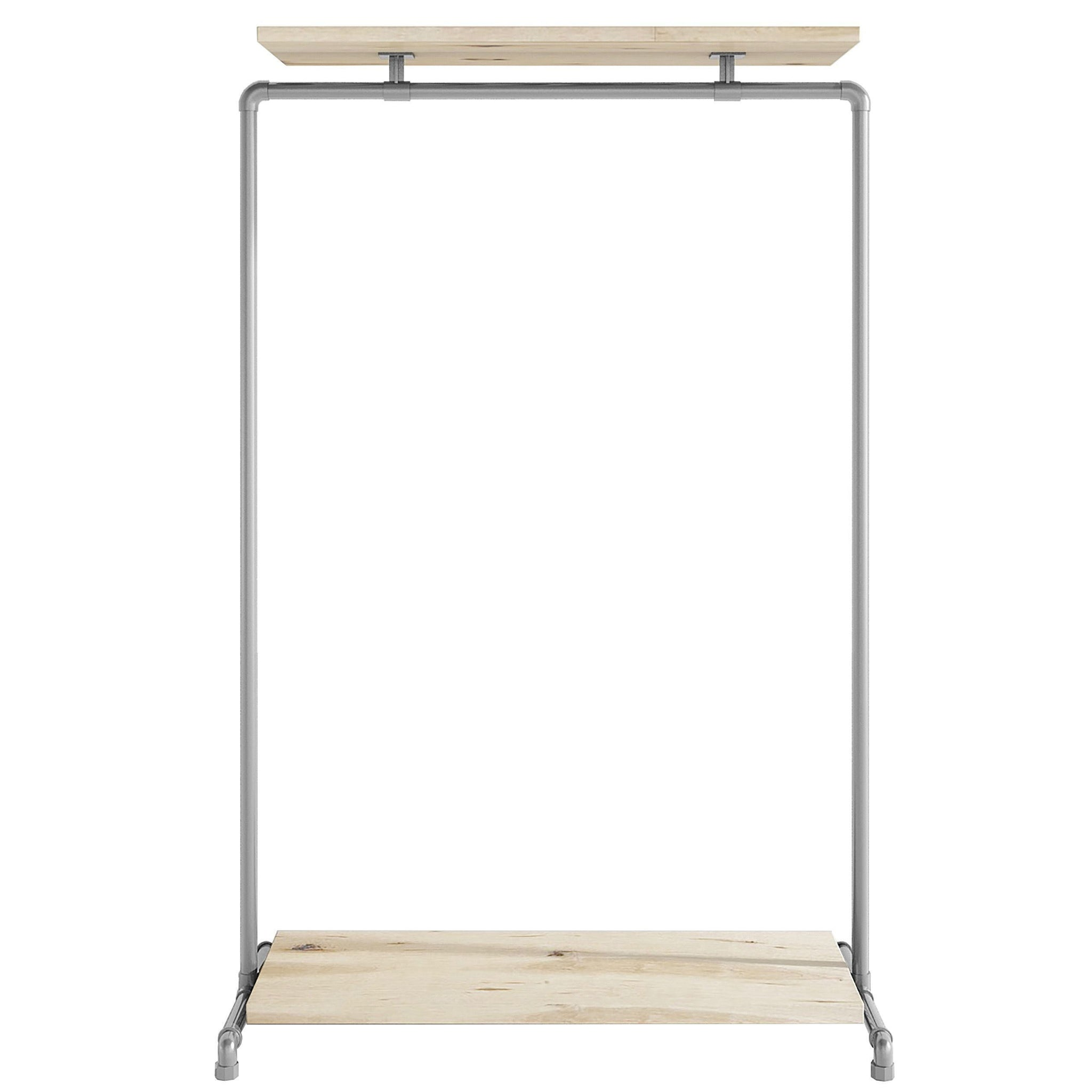 Ziito Clothes Rail C1 / 100 cm / Uden Wood Double Shelf Tøjstativ