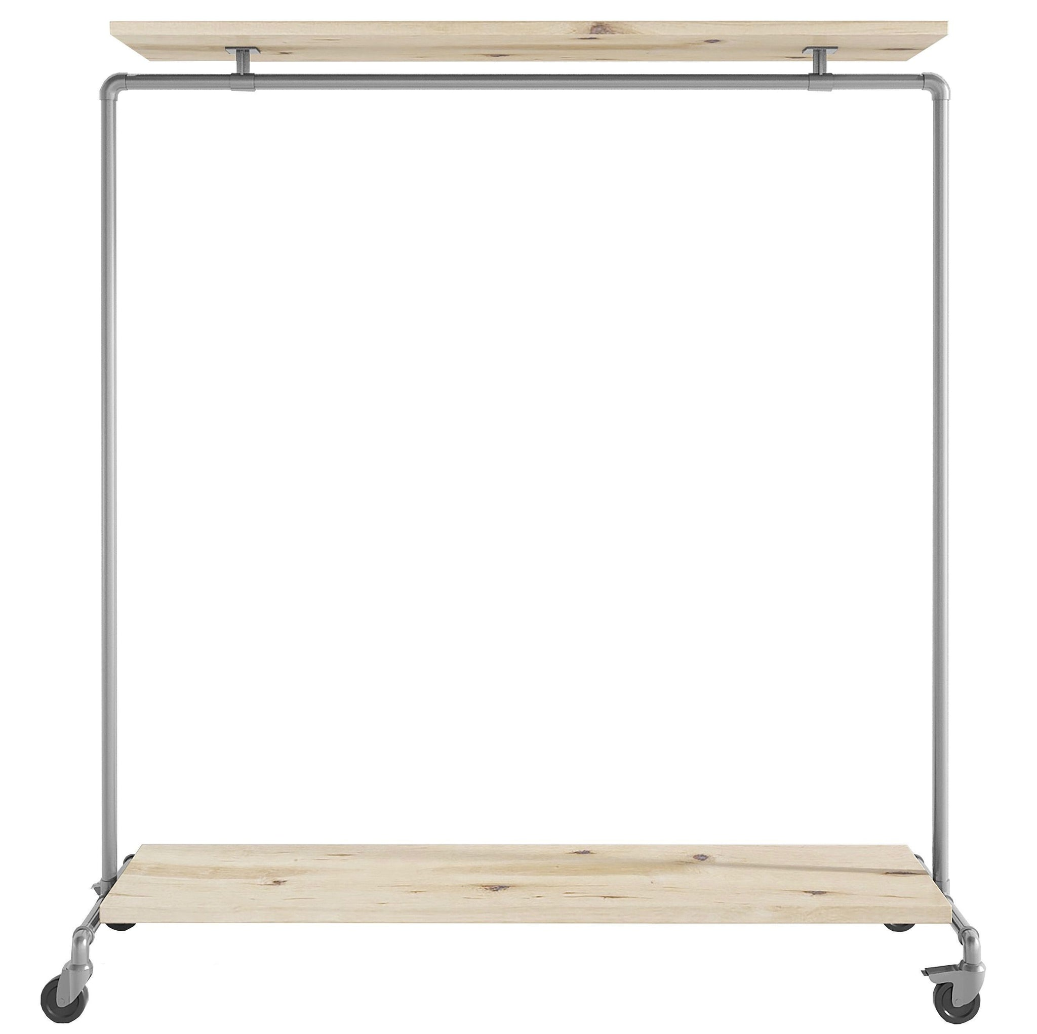 Ziito Clothes Rail C1 / 150 cm / Med Wood Double Shelf Tøjstativ