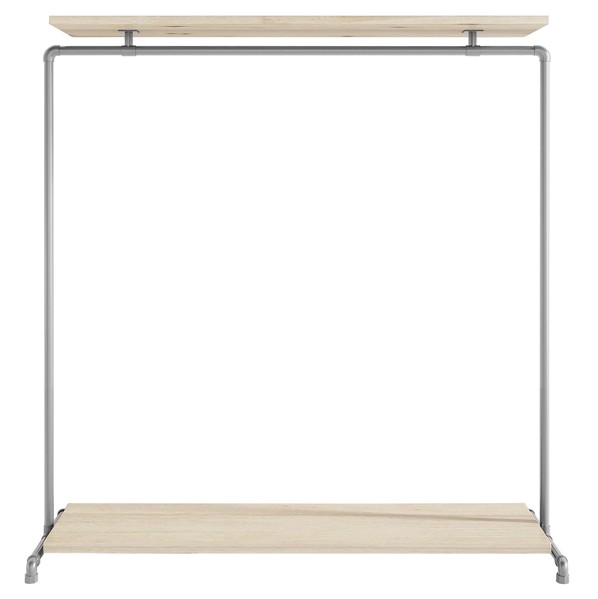 Ziito Clothes Rail C1 / 150 cm / Uden Wood Double Shelf Tøjstativ