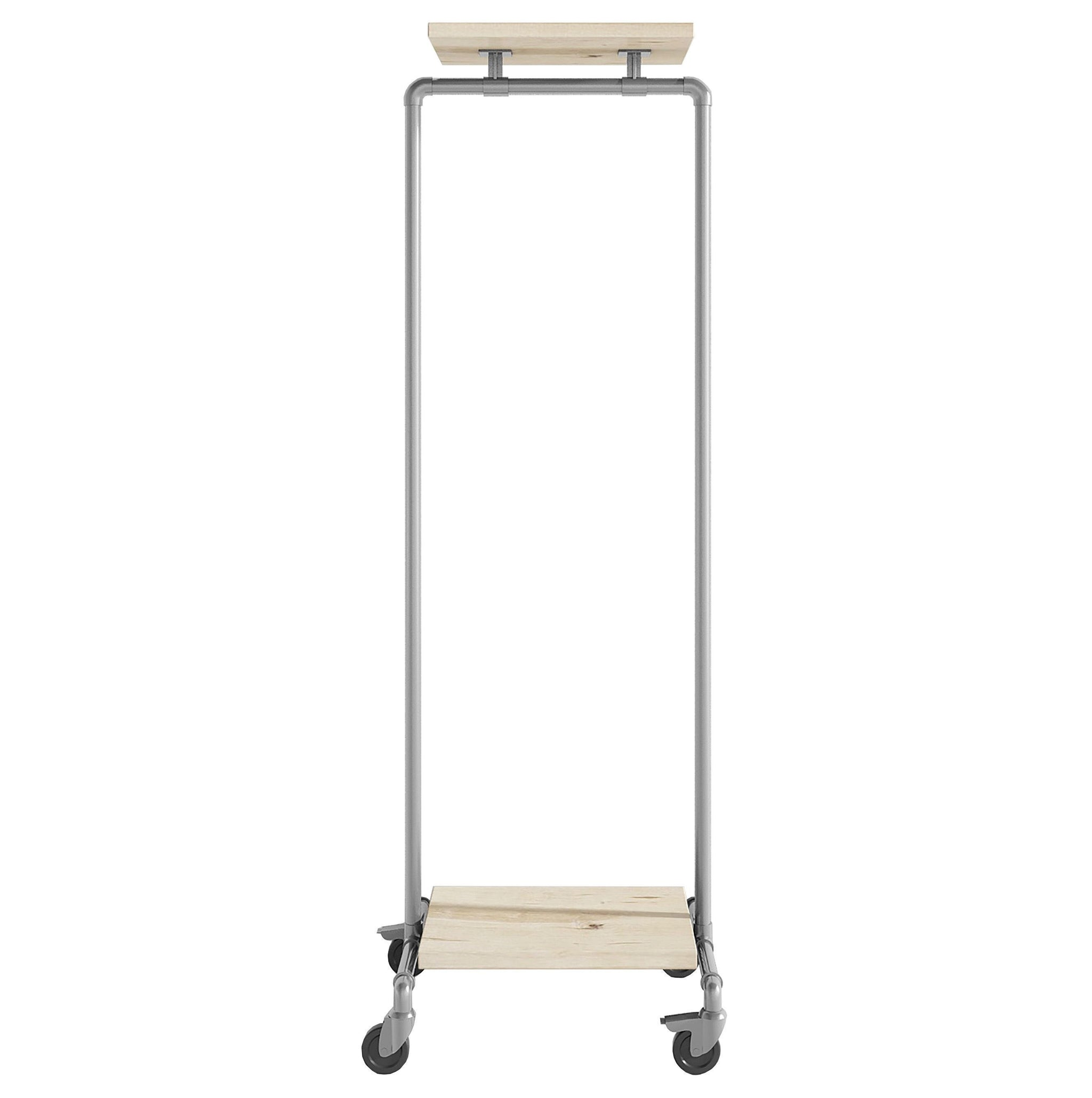 Ziito Clothes Rail C1 / 50 cm / Med Wood Double Shelf Tøjstativ