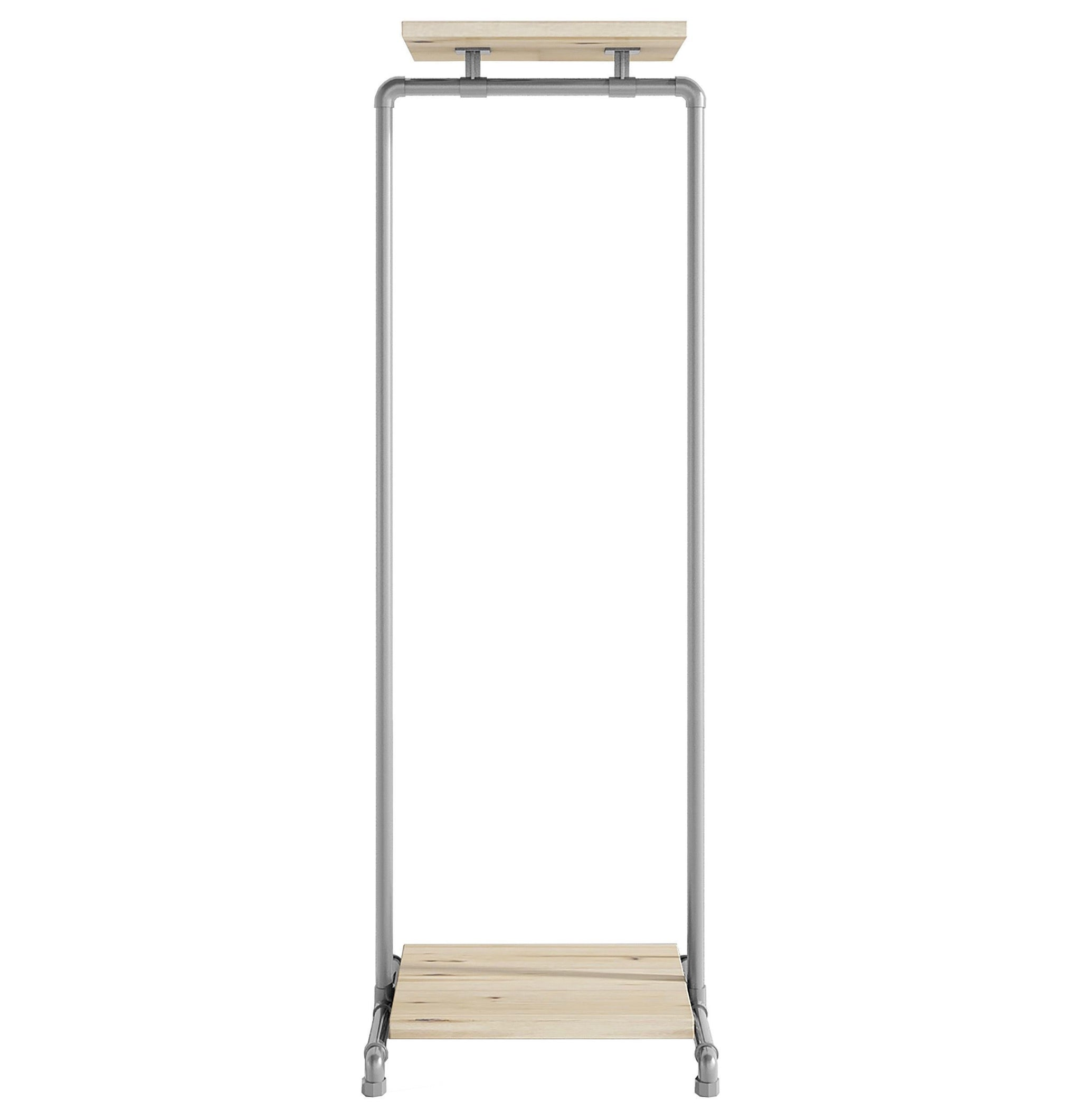 Ziito Clothes Rail C1 / 50 cm / Uden Wood Double Shelf Tøjstativ