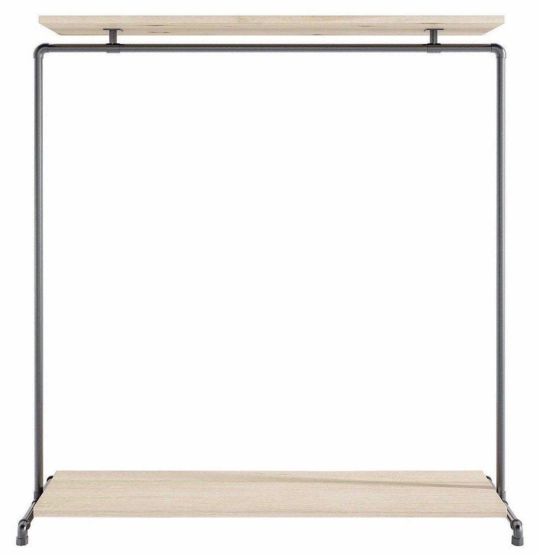 Ziito Clothes Rail C2 / 150 cm / Uden Wood Double Shelf Tøjstativ