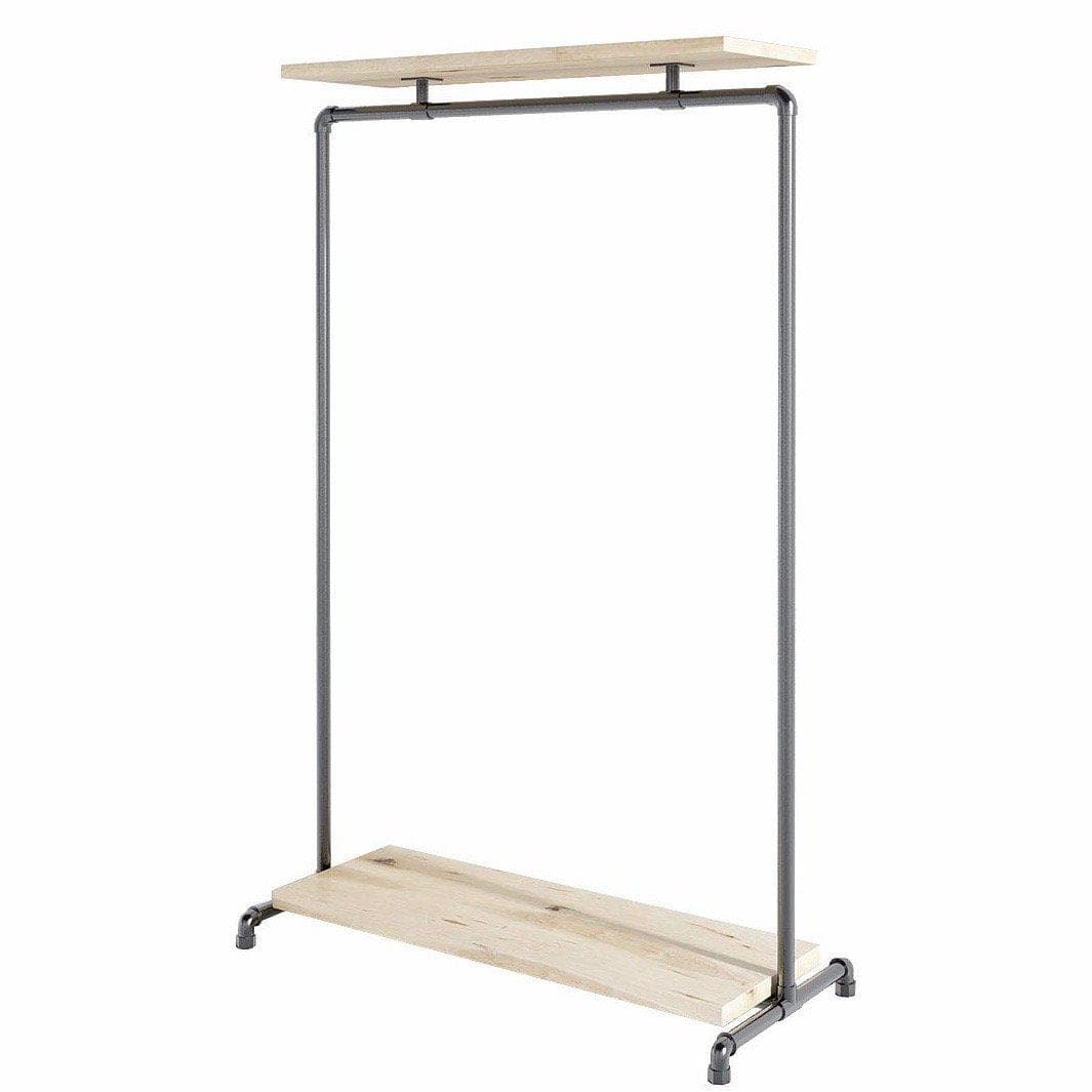 Wood Double Shelf Tøjstativ  Clothes Rail Ziito - Ziito