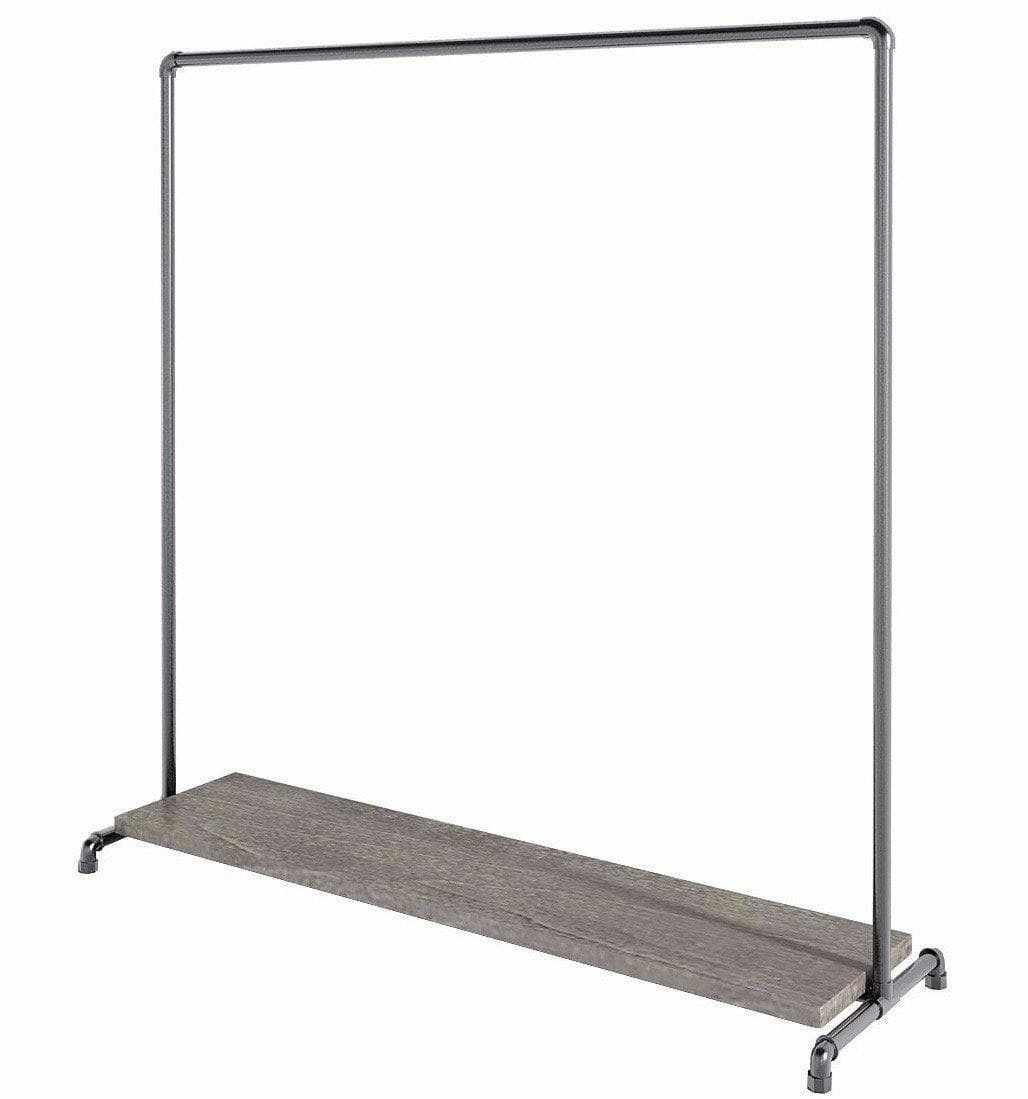 Ziito Clothes Rail Wood Low Shelf Tøjstativ
