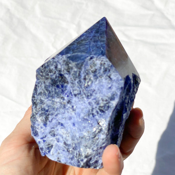 Australian gift, crystal, decor online shop: Sodalite crystal rough + polished point generator