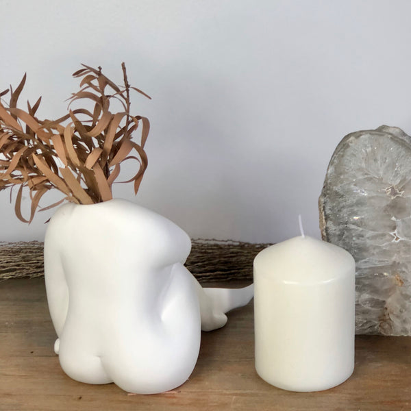 Australian gift, crystal, decor online shop: The nude reclines pottery vase