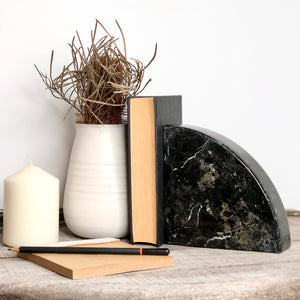 Gift, decor and crystal shop Australia: Onyx crystal single bookend black XL