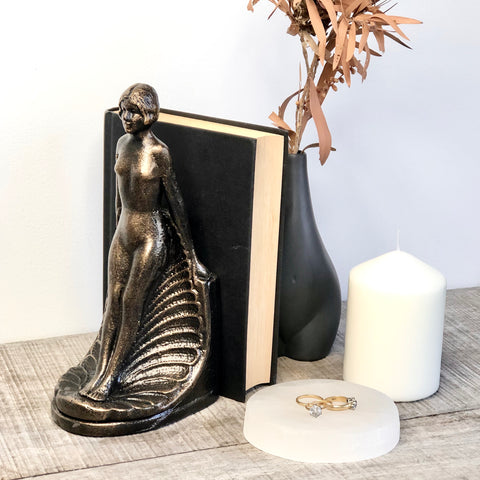 Antique art deco nude bronze statue