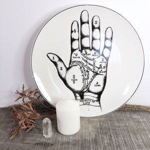 Gift, decor and crystal shop Australia: Palmistry plate wall decor