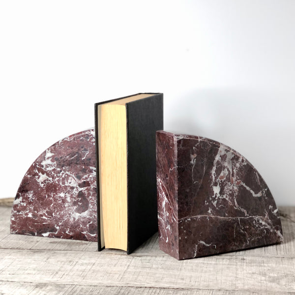 Australian gift, crystal, decor online shop: Onyx crystal bookend pair burgundy XL