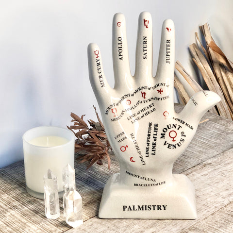 Palmistry mount hand statue