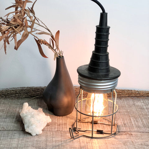 Miners cage lamp